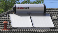 The solar water heater on my roof