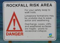 rockfall risk area