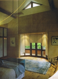bedroom of the eco dream home. image from Synergy Energy