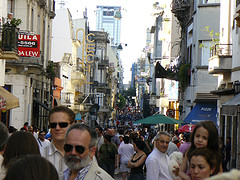 crowded street in San Telmo by Jeff C