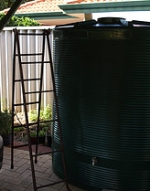 setting up to connect the rainwater tank