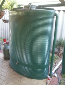 rainwater tank in my garden
